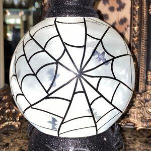 Bath & Body Works Accents - BBW Halloween 2020 Spiderweb Globe Pedestal